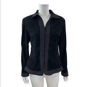 St John Sport  Full Zipper Black Blazer